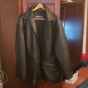 Kenneth Cole Reaction leather coat